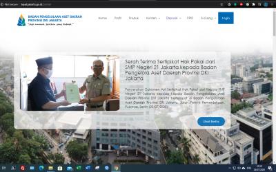 Berita Hasil Serah Terima Sertifikat Hak Pakai telah di informasikan melalui Website Badan Pengelola Aset Daerah Provinsi DKI Jakarta